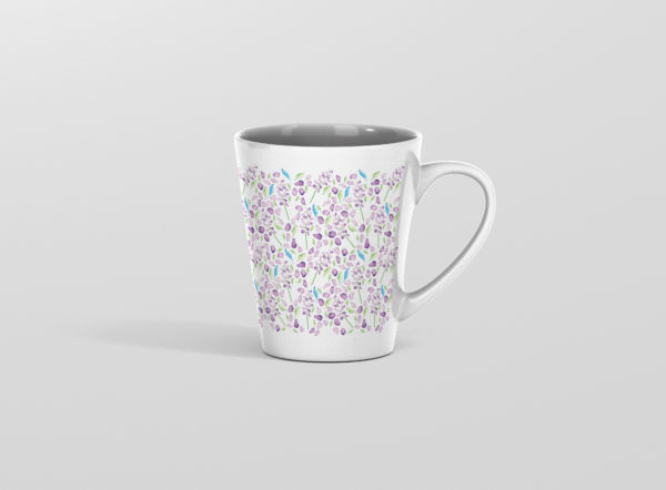 Hrnek s potiskem levandule latte