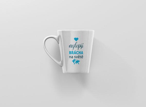 Hrnicek latte s potiskem nejlepsi bracha na svete