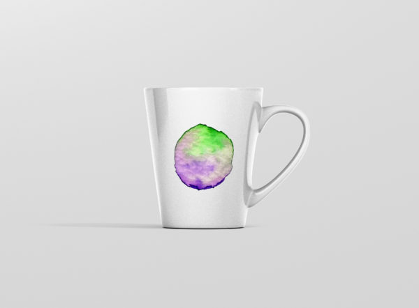 Hrnicek latte se jmenem vodovky zelenofialovy