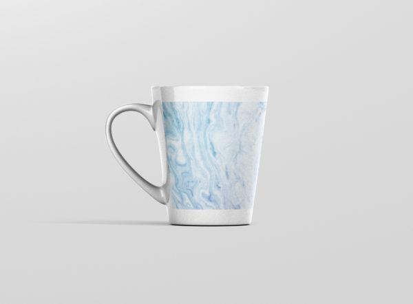Hrnek s potiskem mramor modry latte