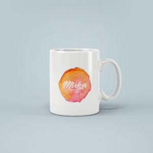 Hrnicek se jmenem vodovky oranzovy Mirka