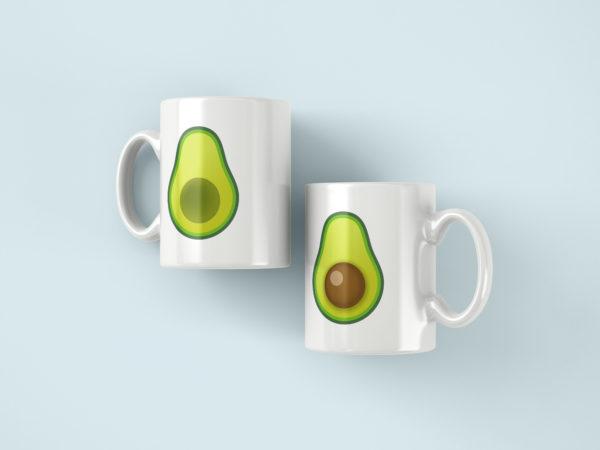 Hrnicky s potiskem avokado