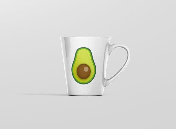 Latte hrnicek s potiskem avokado