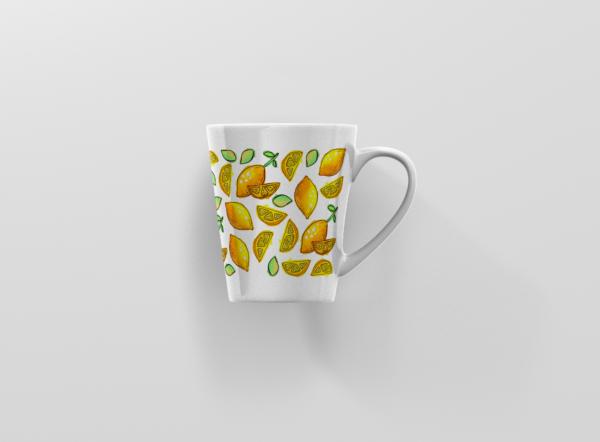 Hrnek s potiskem citrony latte