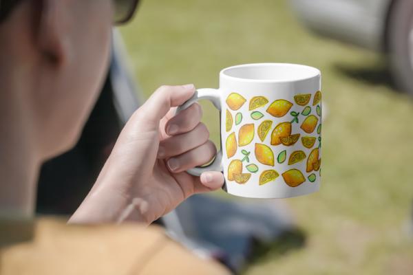 Hrnek s potiskem citrony