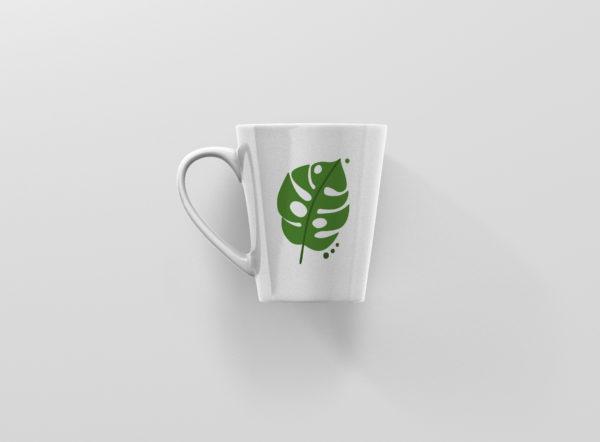 Hrnek s potiskem monstera latte