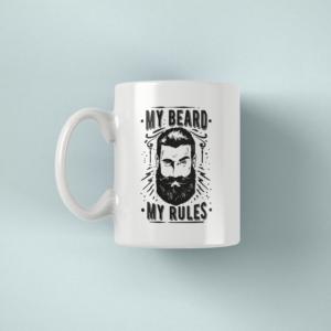 Hrnek s napisem My beard my rules