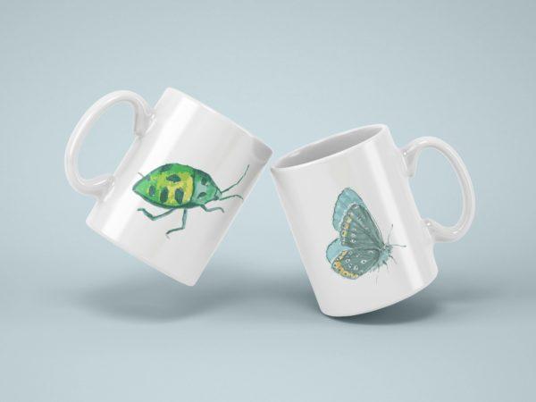 Hrnek s potiskem zviratko brouk motyl